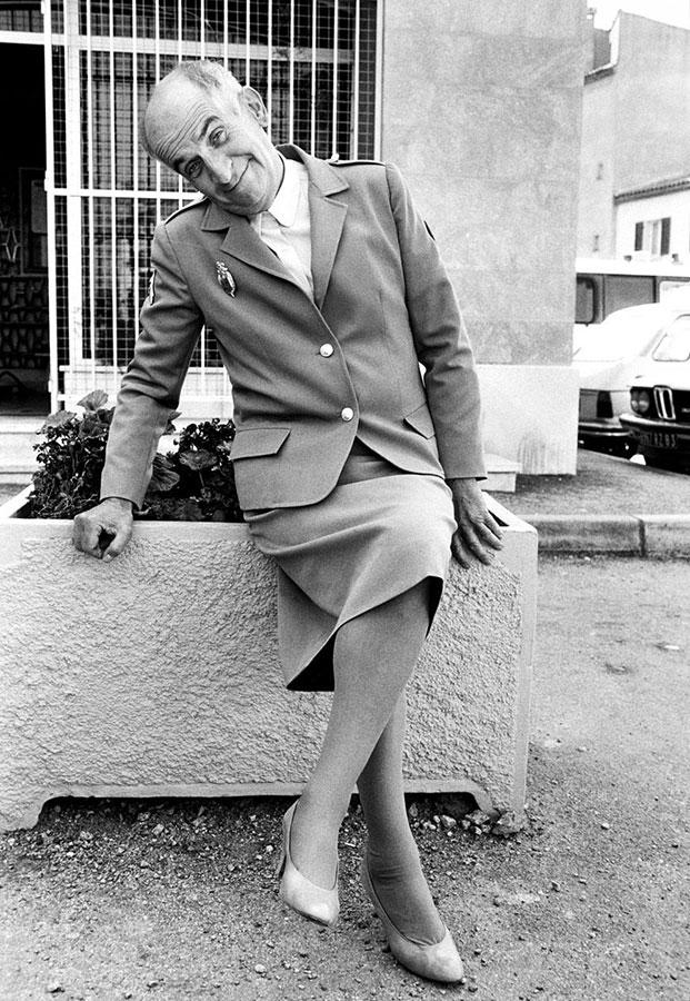 Louis de Funès sur le tournage du film Le Gendarme et les gendarmettes (Jean Girault, 1982) - © Patrice Picot
