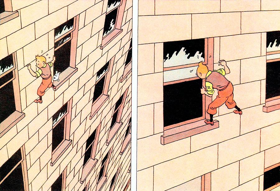 Tintin en Amerique de Hergé (Casterman) - DR