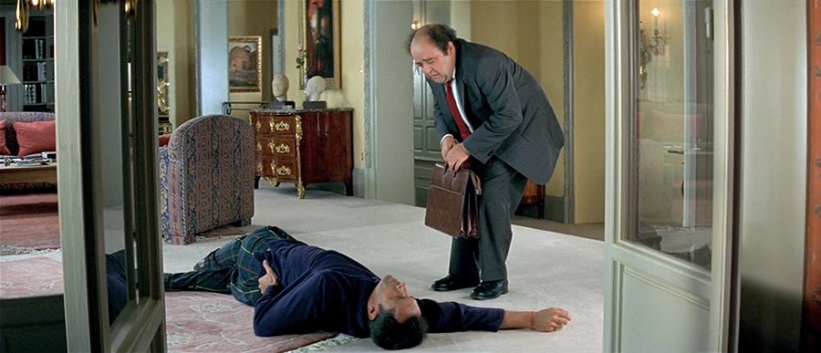Thierry Lhermitte et Jacques Villeret dans Le Dîner de cons (Francis Veber, 1998) - © Gaumont