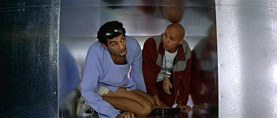 Ramzy Bedia et Eric Judor dans La Tour Montparnasse infernale (Charles Némès, 2001) © StudioCanal