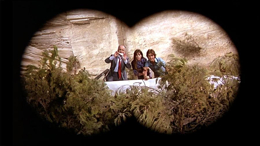 Louis de Funès, Géraldine Chaplin et Olivier de Funès dans Sur un arbre perché (Serge Kerber, 1971) - © StudioCanal