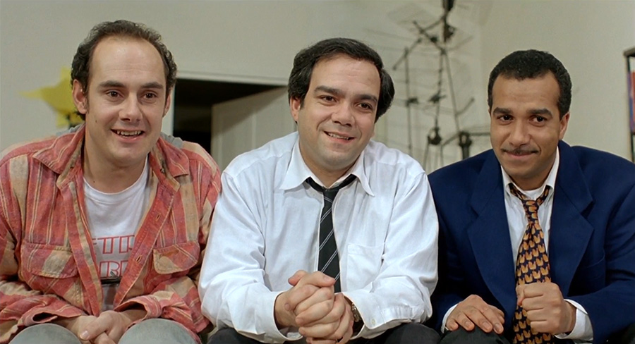 Bernard Campan, Didier Bourdon et Pascal Legitimus dans Les Trois frères (Didier Bourdon et Bernard Campan, 1995) - © Pathé