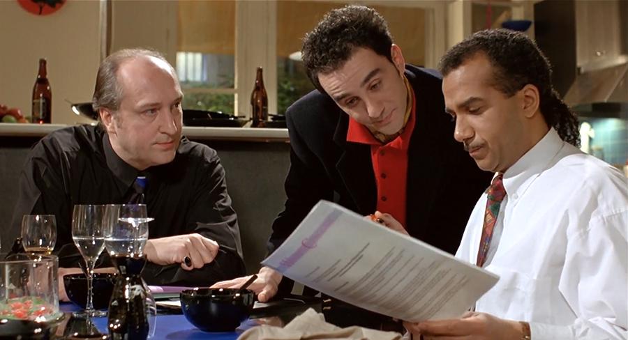 Bernard Farcy, Elie Semoun et Pascal Legitimus dans Les Trois frères (Didier Bourdon et Bernard Campan, 1995) - © Pathé