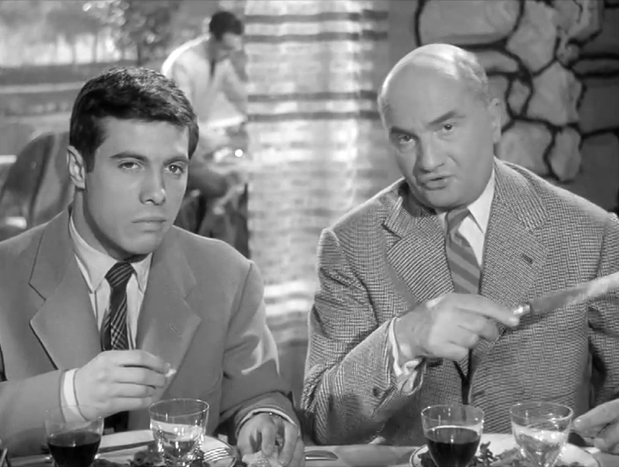 Guy Bedos et Harry Max dans Courte-tête (Norbert Carbonnaux, 1956) - © René Chateau