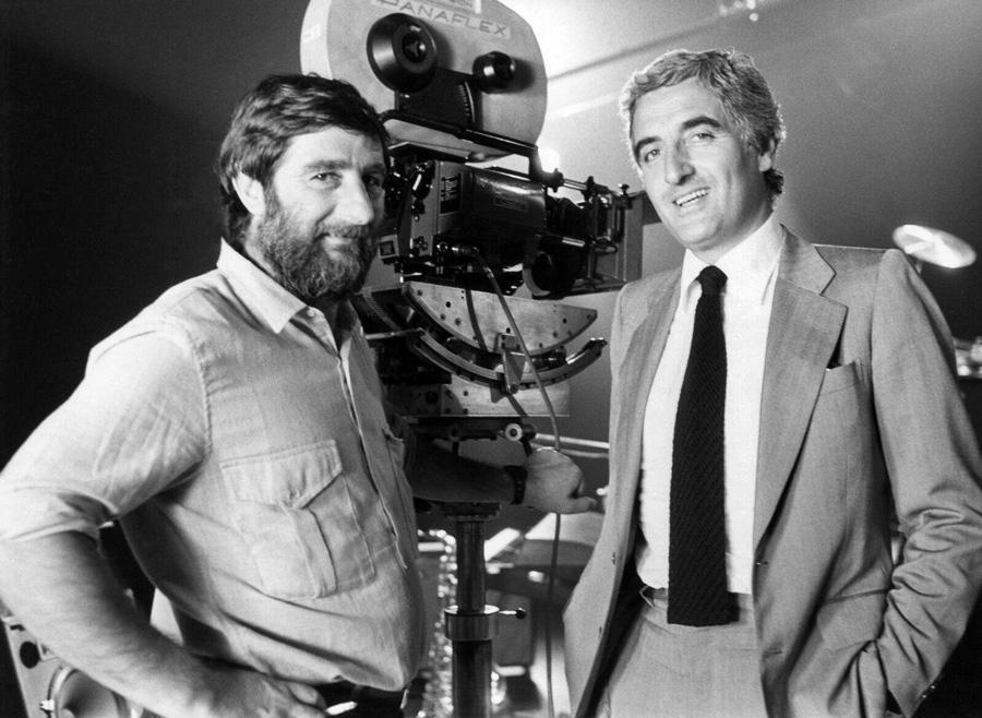 Jacques Monnet et Jean-Loup Dabadie sur le tournage de Clara et les chics types (1981) - DR