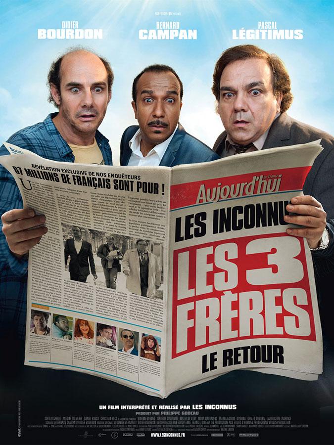 Les Trois frères, le retour (Didier Bourdon, Bernard Campan et Pascal Légitimus, 2014)
