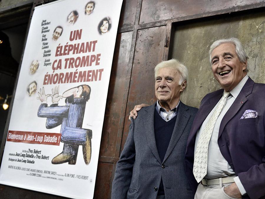 Guy Bedos et Jean-Loup Dabadie à Lyon en 2016 © Joël Philippon (Le Progrès)