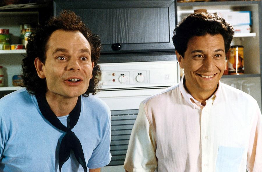 Jean-Pierre Darroussin et Christian Clavier dans Mes meilleurs copains (Jean-Marie Poiré, 1989)