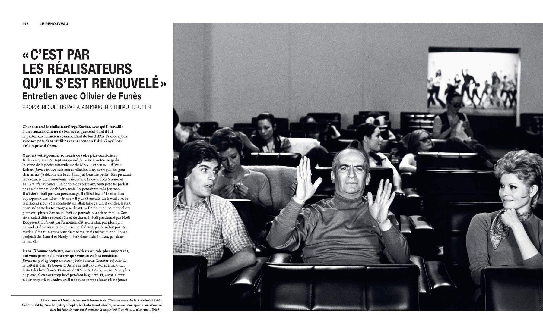 Louis de Funès, à la folie - sous la direction d'Alain Kruger (La Cinémathèque française/Éditions de La Martinière) - pages 116-117