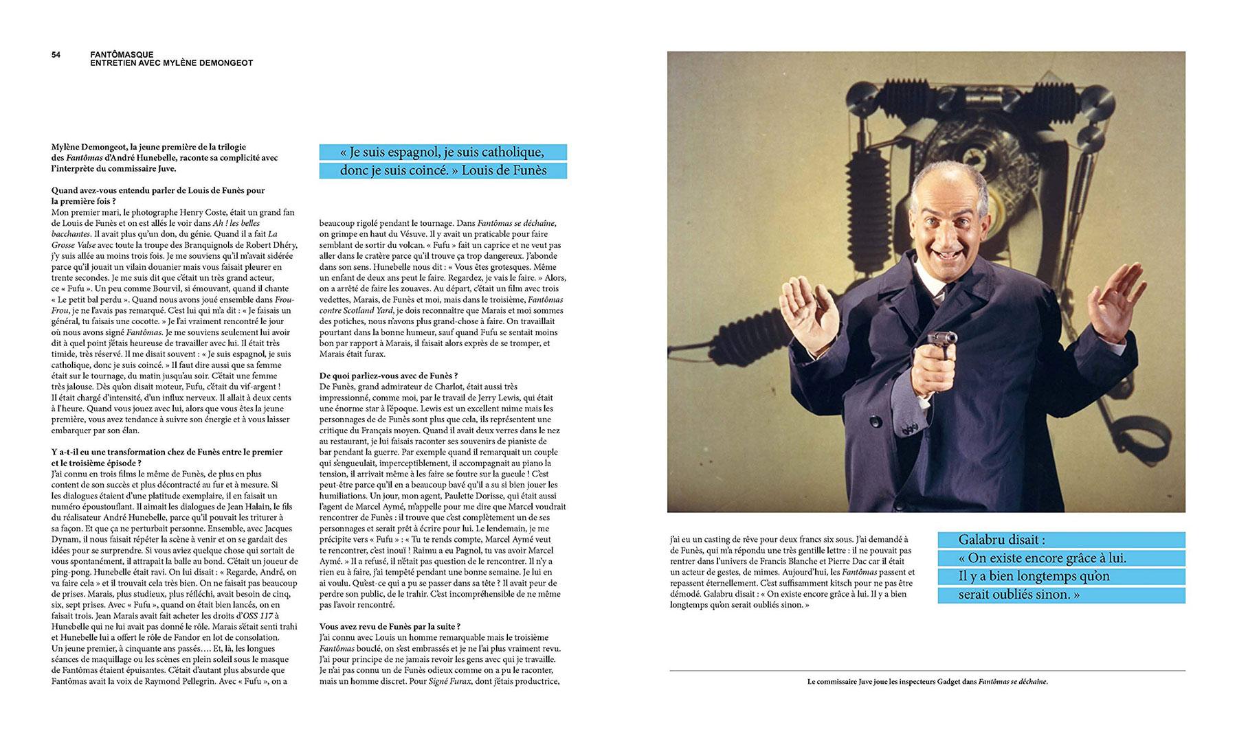 Louis de Funès, à la folie - sous la direction d'Alain Kruger (La Cinémathèque française/Éditions de La Martinière) - pages 54-55