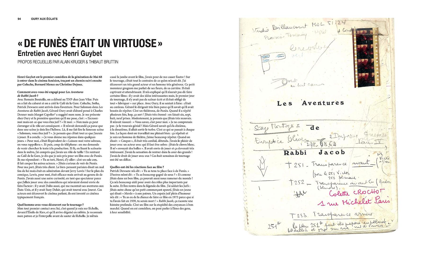 Louis de Funès, à la folie - sous la direction d'Alain Kruger (La Cinémathèque française/Éditions de La Martinière) - pages 94-95