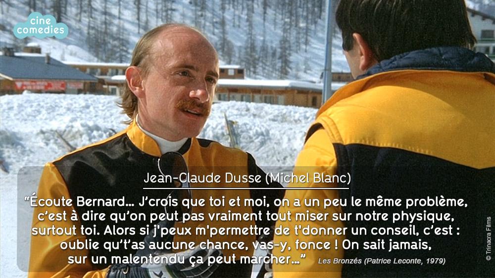 Michel Blanc (Jean-Claude Dusse) dans Les Bronzés font du ski (Patrice Leconte, 1979)