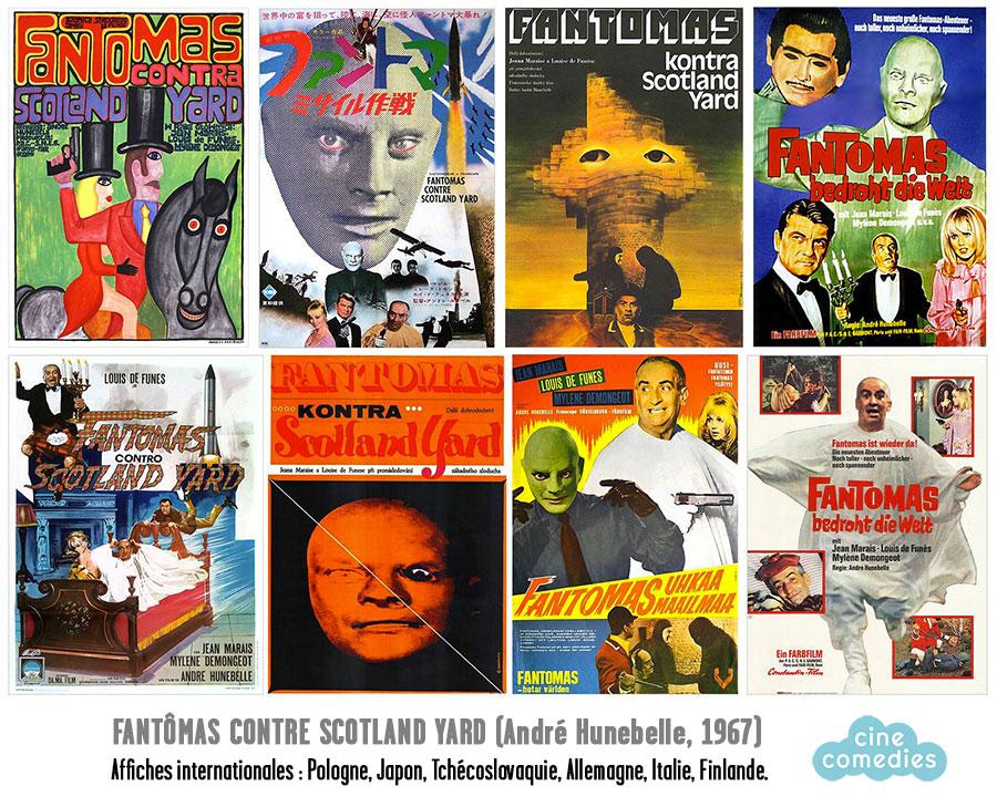Fantômas contre Scotland Yard - Affiches internationales