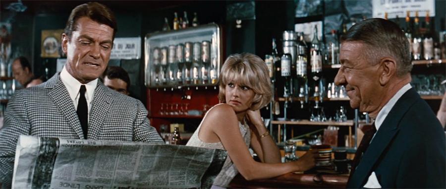 Jean Marais, Mylène Demongeot et Robert Dalban dans Fantômas (André Hunebelle, 1964) - © Gaumont