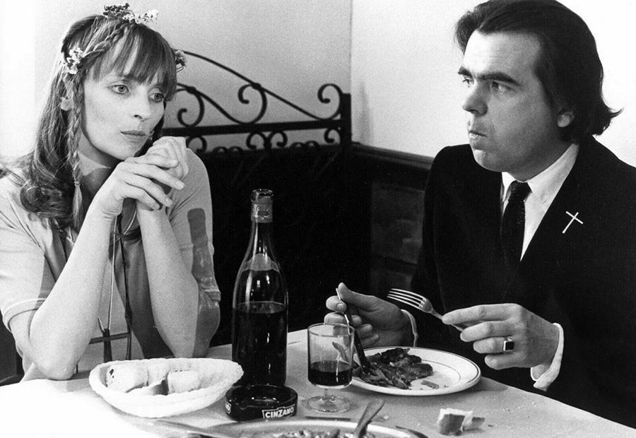 Michael Lonsdale et Edith Scob dans La Vieille fille (Jean-Pierre Blanc, 1971)