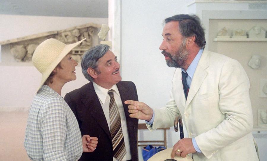 Annie Girardot, Roger Carel et Philippe Noiret dans On a volé la cuisse de Jupiter (Philippe de Broca, 1980) - © TF1 D.A.