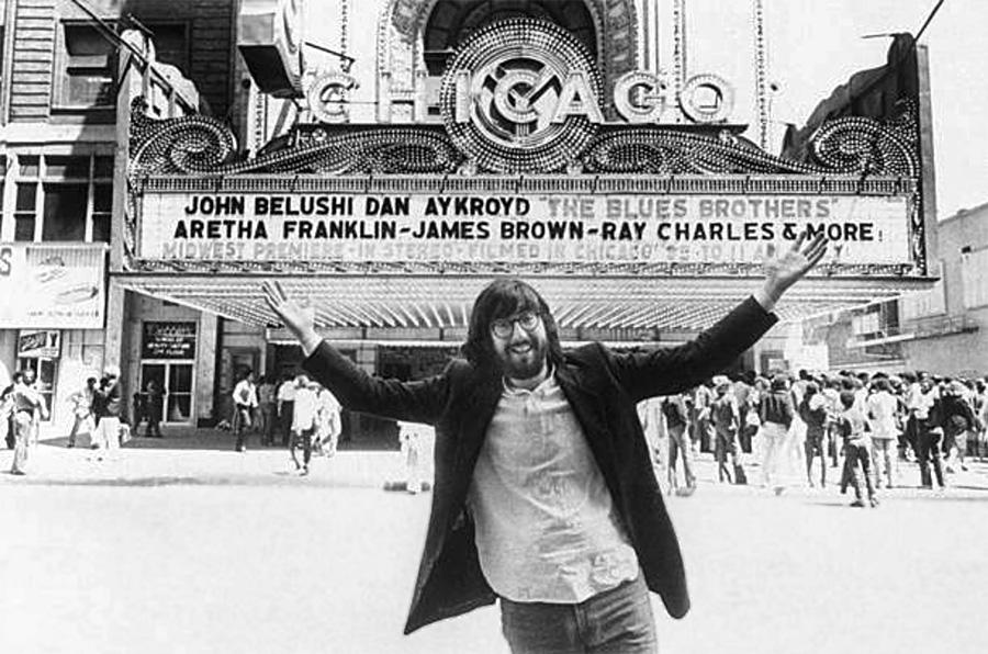 John Landis à Chicago lors de la sortie de The Blues Brothers le 20 juin 1980 - DR