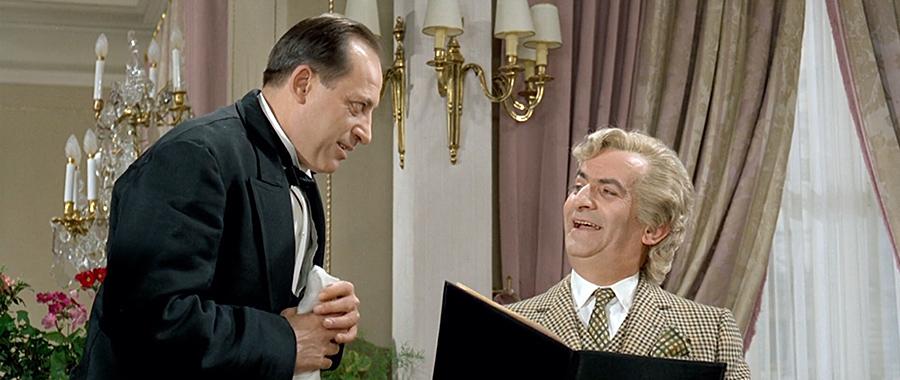 Paul Préboist et Louis de Funès dans Le Grand restaurant (Jacques Besnard, 1966) - © Gaumont