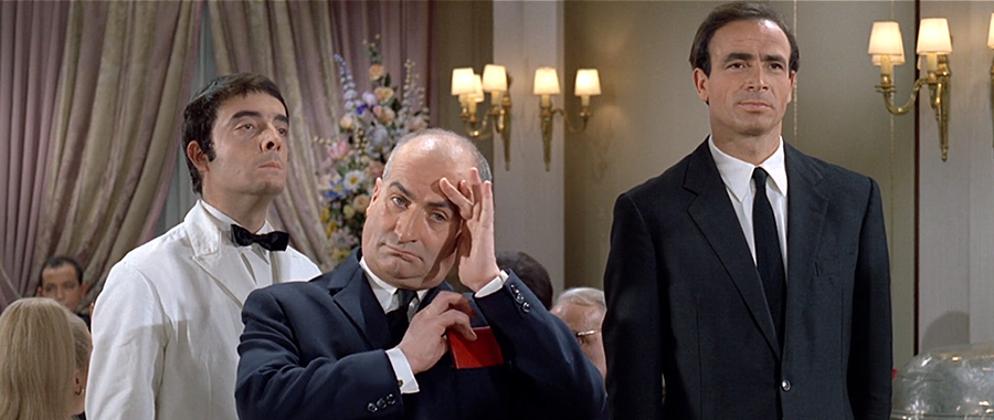 Michel Modo, Louis de Funès et Venantino Venantini dans Le Grand restaurant (Jacques Besnard, 1967) - © Gaumont