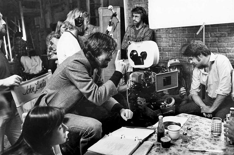 John Landis et Dan Aykroyd sur le ournage de The Blues Brothers (1980) - DR