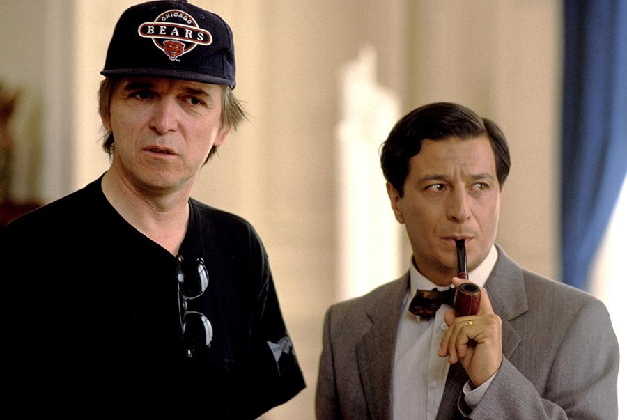 Jean-Marie Poiré et Christian Clavier sur le tournage de L'Opération Corned Beef (Jean-Marie Poiré, 1991) - © Gaumont