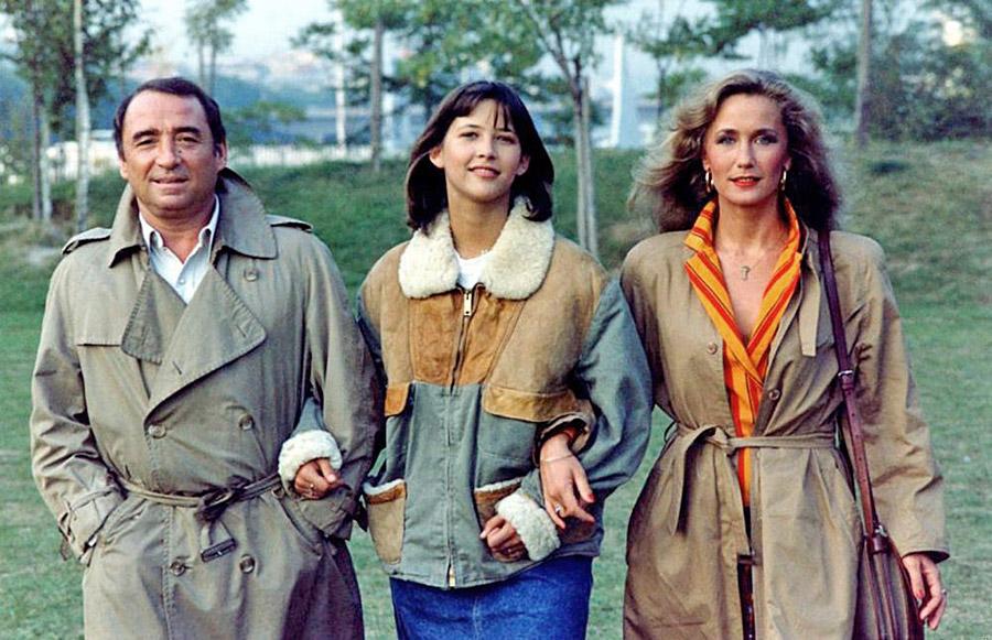 Claude Brasseur, Sophie Marceau et Brigitte Fossey dans La Boum 2 (Claude Pinoteau, 1982) - © Gaumont