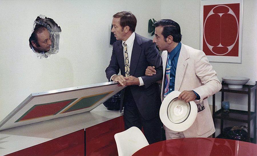 Robert Dhéry et Robert Castel dans 3 hommes sur un cheval (Marcel Moussy, 1969) - © Films de la Pléïade