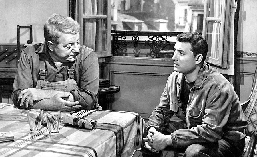 Jean Gabin et Claude Brasseur dans Rue des prairies (Denys de La Patellière, 1959) - DR