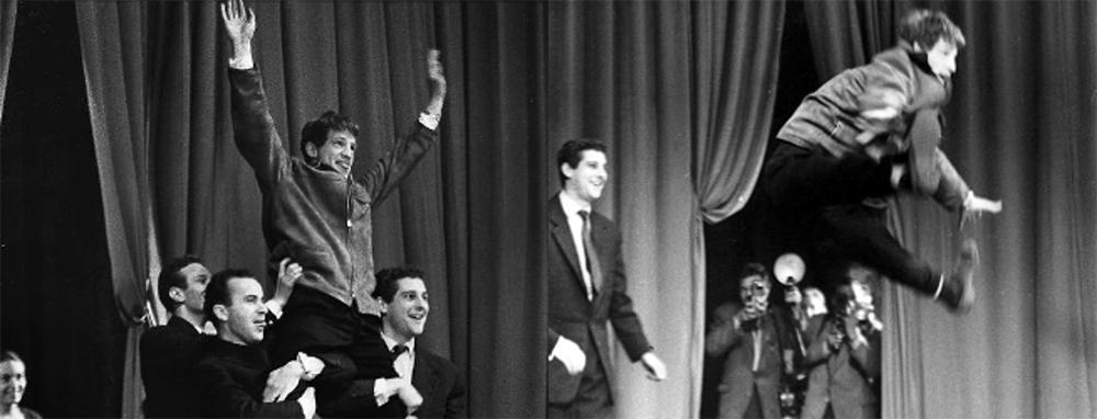 Jean-Paul Belmondo au Conservatoire en 1956 - DR