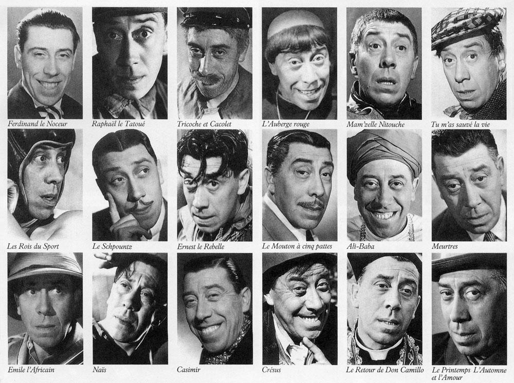 Les rôles de Fernandel (tiré du livre de Jacques Lorcey paru en 1981 - DR