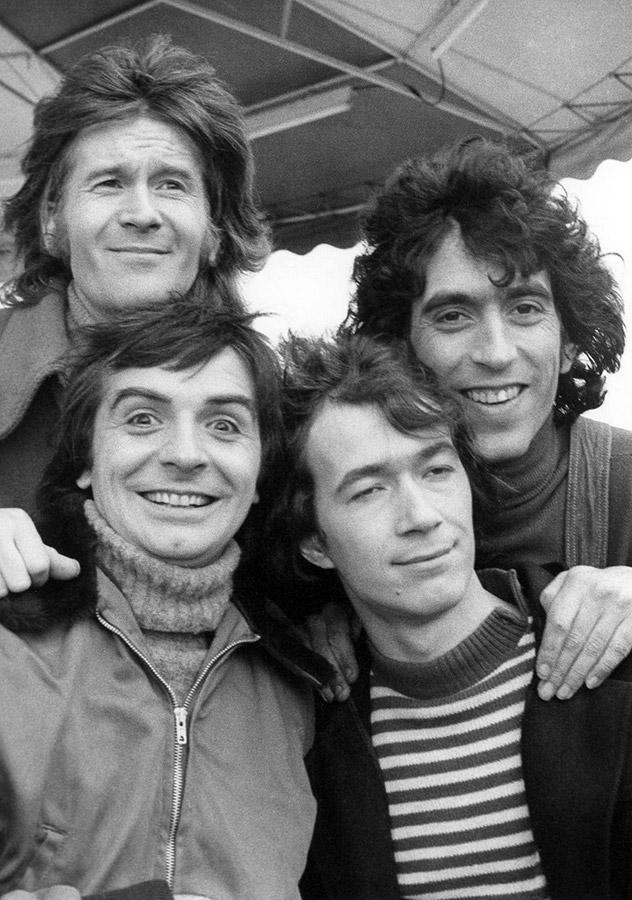 Phil, Jean-Guy, Gérard et Jean alias Les Charlots - © collection personnelle Jean Sarrus