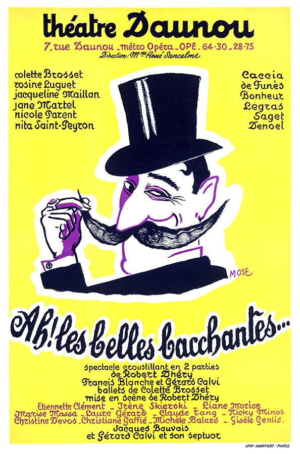 Ah ! Les belles bacchantes de Robert Dhéry (Théâtre Daunou, 1953)