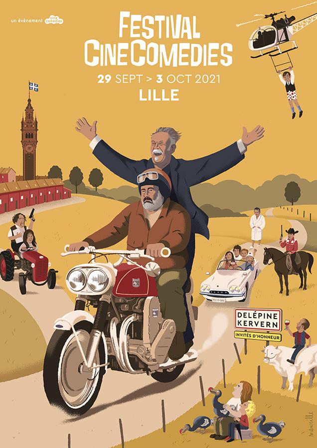 4ème édition du Festival CineComedies à Lille du 29 septembre au 3 octobre - Illustration : David Merveille