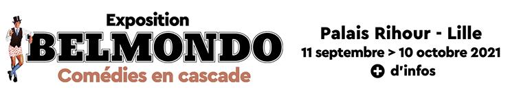 Exposition Belmondo : Comédies en cascade - 11 sept > 10 oct 2021 - Palais Rihour (Lille)
