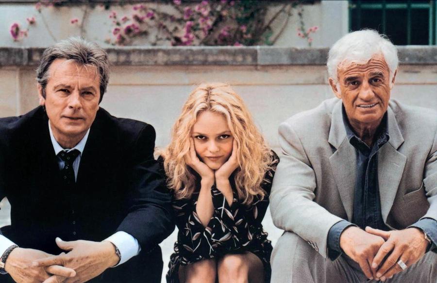 Alain Delon Vanessa Paradis et Jean-Paul Belmondo dans 1 chance sur 2 (Patrice Leconte, 1996) - DR