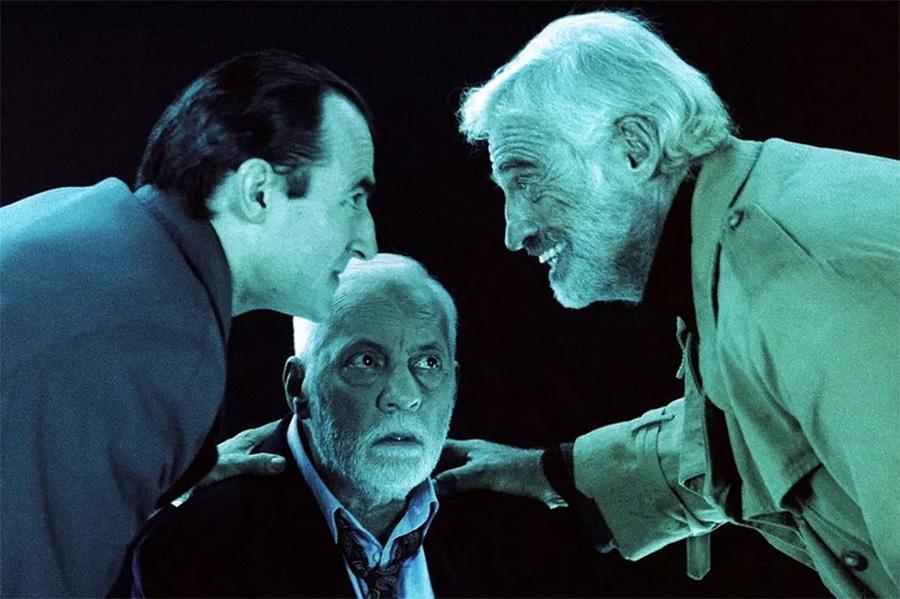 Albert Dupontel, Michel Serrault et Jean-Paul Belmondo dans Les Acteurs (Bertrand Blier, 2000) - © StudioCanal