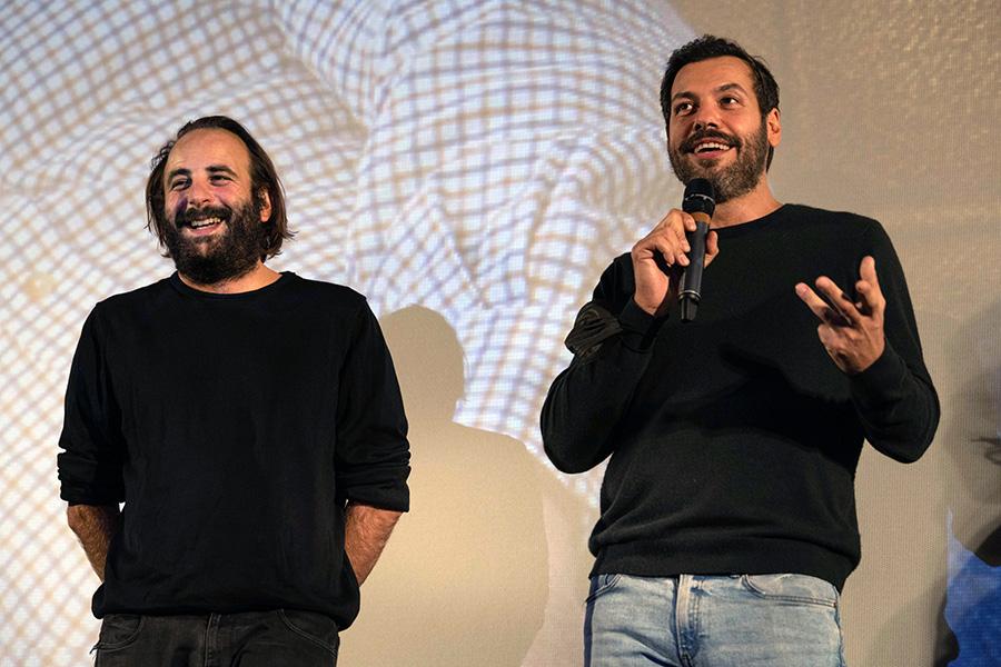 Vincent Macaigne et Laurent Lafitte lors de l'avant-première de L'Origine du monde en clôture du Festival CineComedies 2020 - © Pauline Maillet