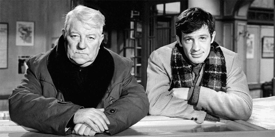 Jean Gabin et Jean-Paul Belmondo dans Un singe en hiver (Henri Verneuil, 1962) - © Gaumont