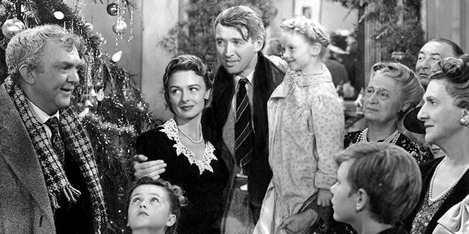 Frank Capra et James Stewart sur le plateau de La Vie est belle (It's A Wonderful Life) de Frank Capra (1946)