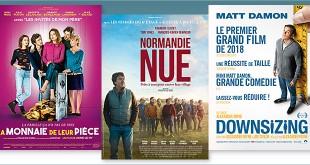 sorties Comédie du 10 janvier 2018 : La Monnaie de leur pièce, Normandie nue, Downsizing