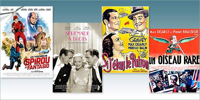 sorties Comédie du 21 février 2018 : Les Aventures de Spirou et Fantasio, Sérénade à trois (1933), Si j'étais le patron (1934), Un oiseau rare (1935)