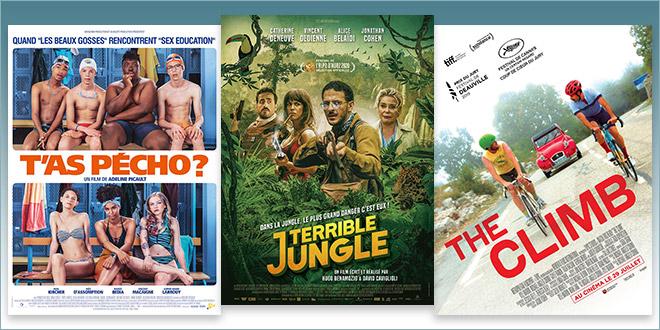 sorties Comédie du 29 juillet 2020 : T'as pécho ?, Terrible jungle, The Climb