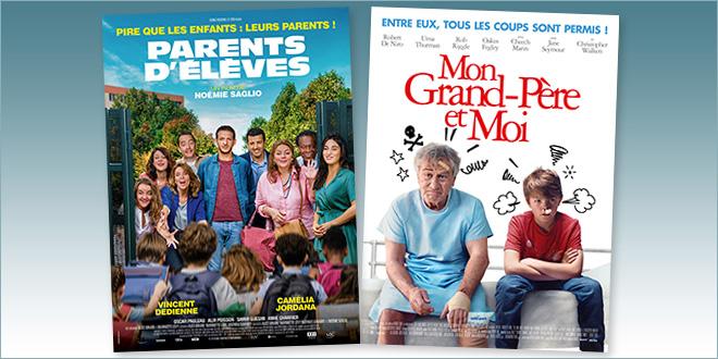 sorties Comédie du 7 octobre 2020 : Parents d'élèves, Mon grand-père et moi (The War with Grandpa)