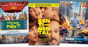 sorties Comédie du 11 août 2021 : C'est quoi ce papy ?!, Sentimental, Free Guy